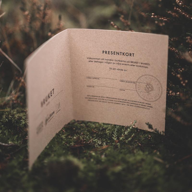Brukets presentkort